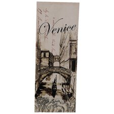 Venice Bridge Vintage Advertisement Plaque