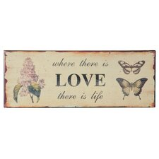 "Metal ""Love"" Wall Plaque"
