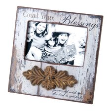 "Wood ""Blessings"" Picture Frame"