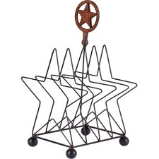 Metal Star Plate Rack