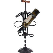 Corkscrew 4 Bottle Tabletop Wine Rack