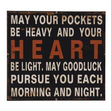 'May Your Pockets...' Wall Decor
