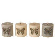 Pin Butterfly Votive (Set of 4)