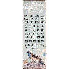 Eternal Calendar Graphic Art Plaque