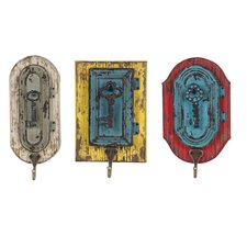 Metal Key Wall Hook (Set of 3)