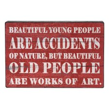 'Beautiful...' Textual Art Plaque