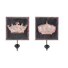 Wooden Wall Hook (Set of 2)