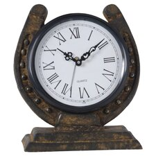 Horseshoe Metal Clock