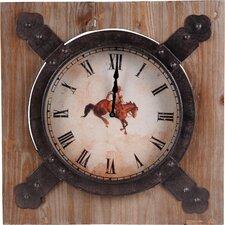 "19.75"" Horse Wall Clock"
