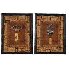 <strong>Wilco</strong> Corkscrew Wood Plaque (Set of 2)