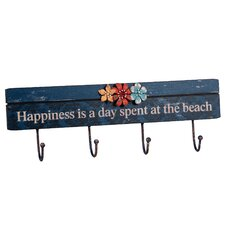 'Happiness...' 4 Wall Hooks