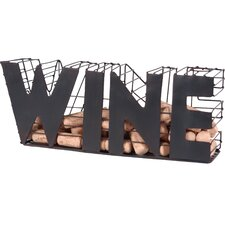 'Wine' Metal Basket Cork Holder