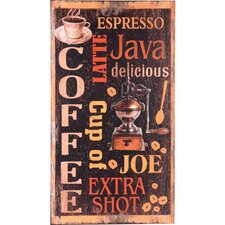 'Coffee' Wood Wall Plaque