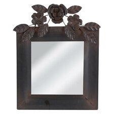 Rose Square Metal Wall Decor Mirror