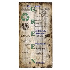 'Green' Textual Art Plaque