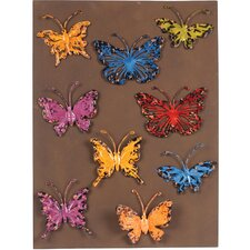 Wall with 12 Butterfly Magnets