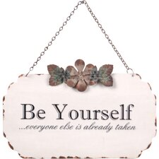 'Be Yourself' Wall Decor
