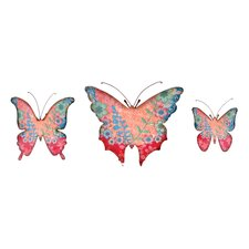 <strong>Wilco</strong> 3 Piece Butterfly Wall Décor Set