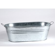 Tin Oval Bucket with Side Handle