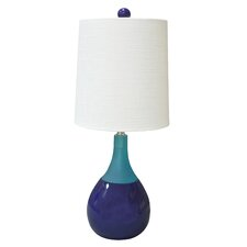 "Graphic Appeal Malibu 21"" H Table Lamp with Round Shade"