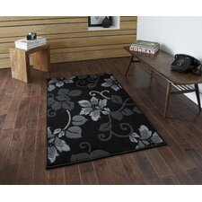 <strong>Think Rugs</strong> Modena Black/Grey Budget Rug