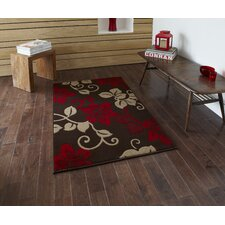 Modena Brown/Red Floral Rug