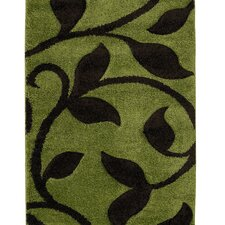 Fashion Carving Green/Brown Rug