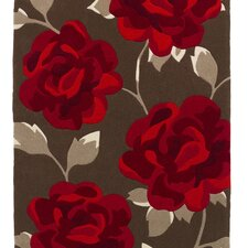 Hong Kong Brown/Red Tufted Rug