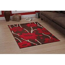 Verona Brown/Red Hand Carved Rug