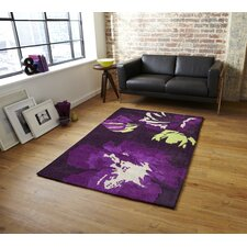 Hong Kong Purple Tufted Floral Rug