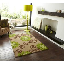 Rosetta Beige/Green Tufted Rug
