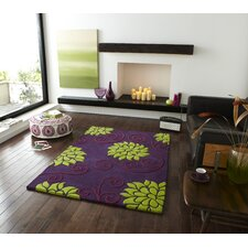 Rosetta Purple/Green Tufted Rug