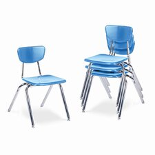"<strong>Virco</strong> 3000 Series 16"" Plastic Classroom Stackable Chair"