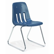"9000 Series 18"" Polyethylene Classroom Sled Chair"