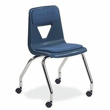 "<strong>Virco</strong> 2000 Series 18"" Plastic Classroom Mobile Chair"