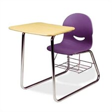 "I.Q. Series 32"" Laminate Combo Chair Desk with Wire Bookrack"