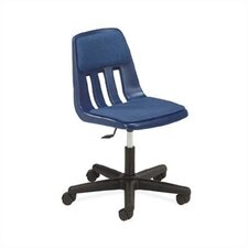 "<strong>Virco</strong> 9000 Series 20.25"" Polyurethane Classroom Upholstered Mobile Chair"