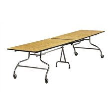 "<strong>Virco</strong> Rectangular Mobile Duofold Table with T-mold Edge (30"" x 96"")"