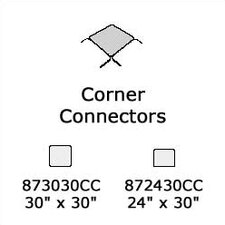 "<strong>Virco</strong> 8700 Series Corner Connector (24"" x 30"")"
