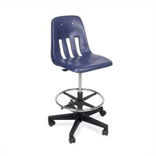 Height Adjustable Lab Stool with Footring
