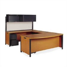 Plateau Series U-Shape Executive Desk Office Suite