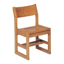 "14"" Wooden Sled-Based Classroom Chair"