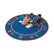 Children's Blue Alpha Area Rug