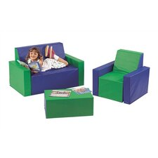 <strong>Virco</strong> 3 Piece Children's Foam Furniture Set