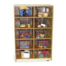 Storage Unit with 10 Clear Trays