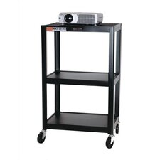 Adjustable Height Audio Visual Cart