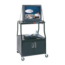 Wide-Body TV Cart  with Cabinet