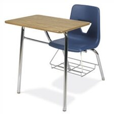 "<strong>Virco</strong> 2000 Series 31"" Plastic Chair Desk with Bookrack"