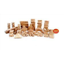 Kindergarten Set of Wood Block 183 Piece Set