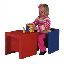 Educubes Kid's Table and Novelty Chair Set